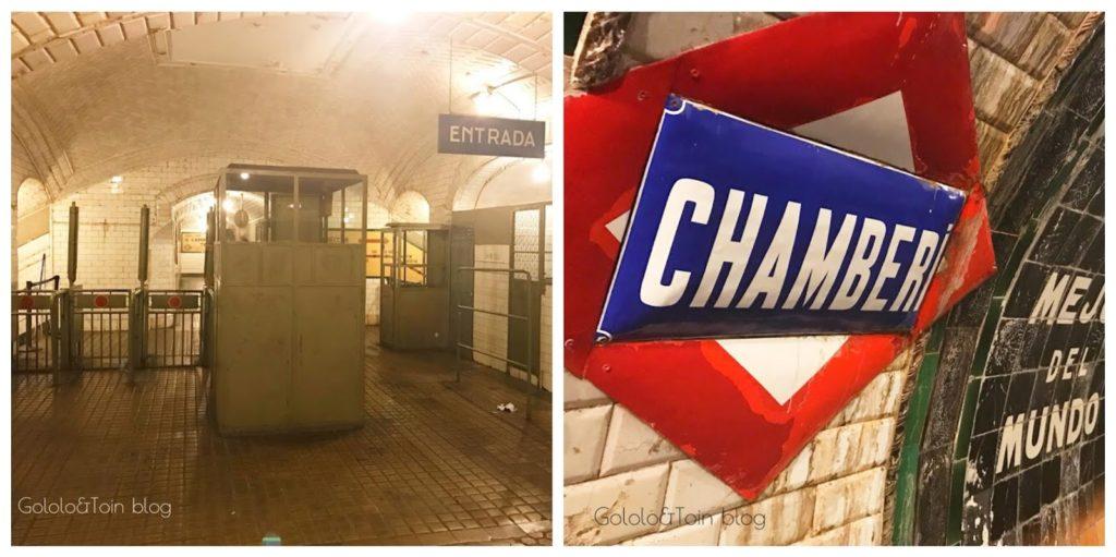 Estación fantasma de Chamberí Metro de Madrid