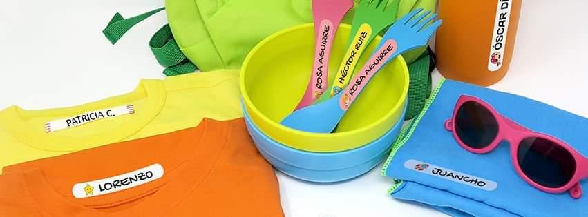 Etiquetas para marcar ropa y material escolar