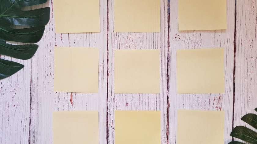 yellow paper lot