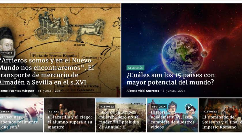 Nueva App de Academia Play sobre la historia de España